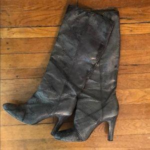Frye Ava Tall snakeskin boots